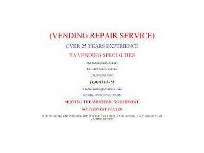 vending repair services vending machine repairs classifieds